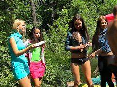 Секс студентов в лесу